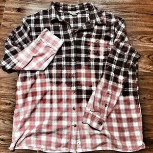 Custom dipped/distressed Duluth Trading Co flannel